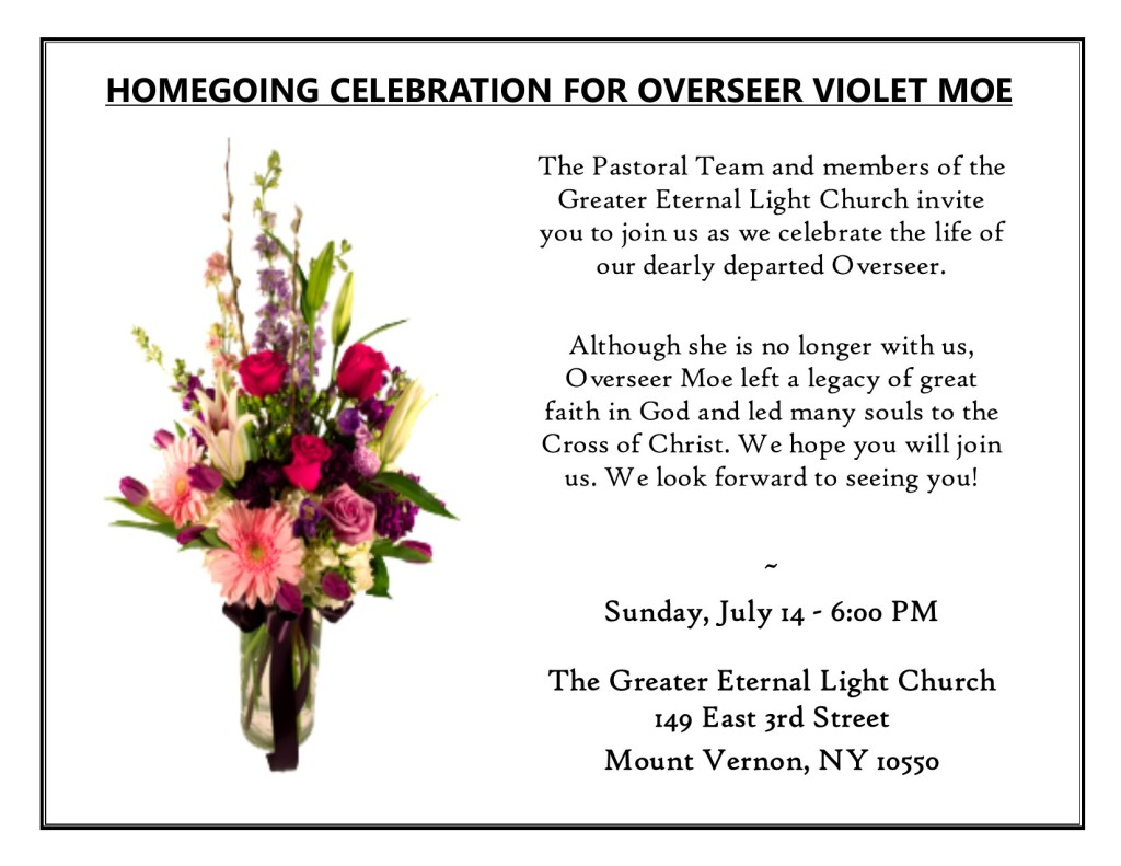 Homegoing Service for Overseer Moe